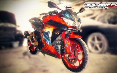 Kawasaki New Ninja 250 Modifikasi Airbrush Bertema Transformer