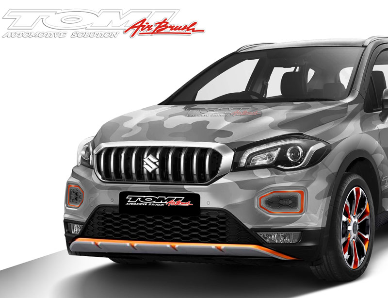 Modifikasi Virtual New Suzuki SX4 S-Cross Army Style