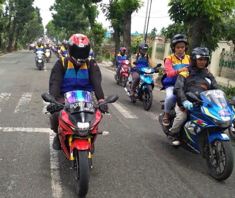 Ratusan Bikers Suzuki Bike Meet Sambangi Danau Toba