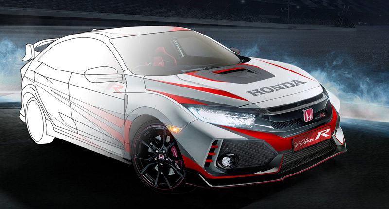 Honda Gelar Kompetisi Desain Cutting Sticker Honda Civic Type R