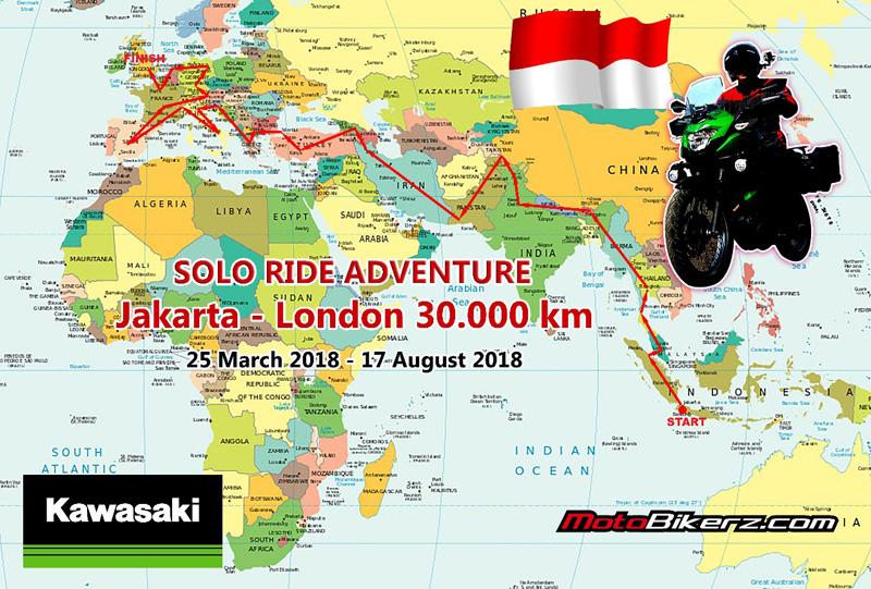 World Tour Rider, Touring Solo Jakarta – London