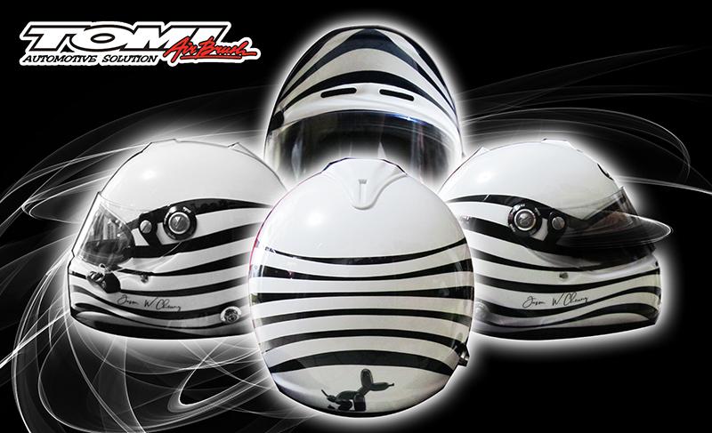 Helm Airbrush Bermotif Simpel