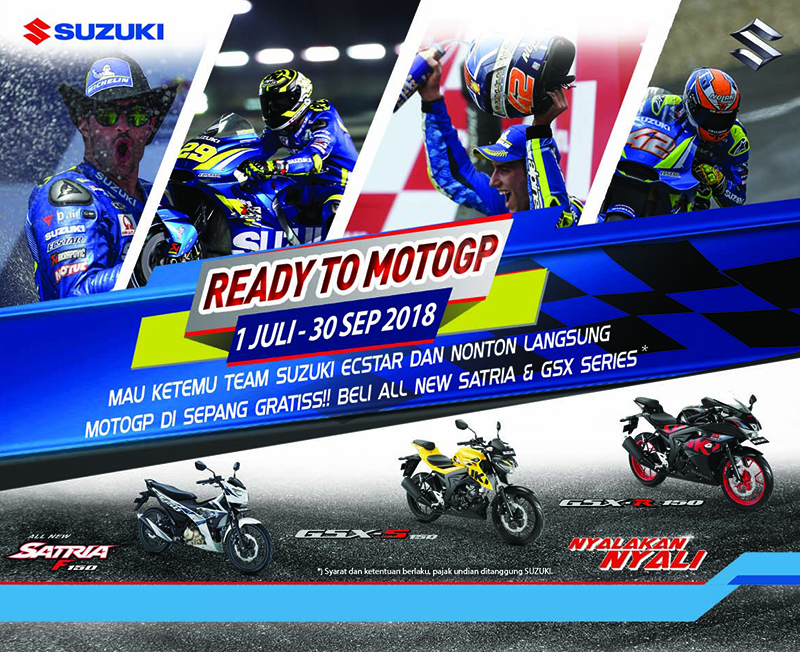 Suzuki Kembali Buka Peluang untuk Nonton MotoGP di Sepang