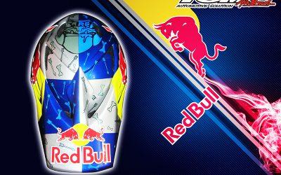 Modifikasi Airbrush Helm Sepeda Gunung Redbull