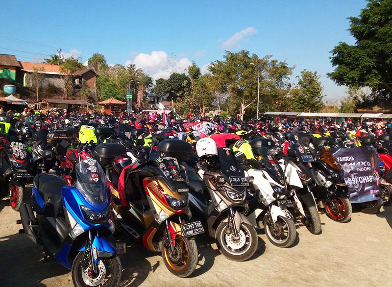 Rayakan Kemerdekaan RI ke-73, Ribuan Bikers MAXI Gelar Touring