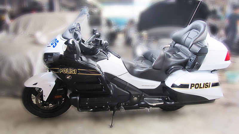 Honda Goldwing Cutting Sticker Berkonsep NYPD