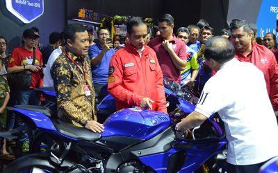 IMOS 2018, Presiden Jokowi Tertarik Lineup Yamaha R-Series