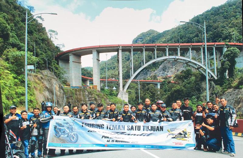 Sasar Konsumen Sumatera, Suzuki GSX150 Bandit Touring Pekanbaru-Padang