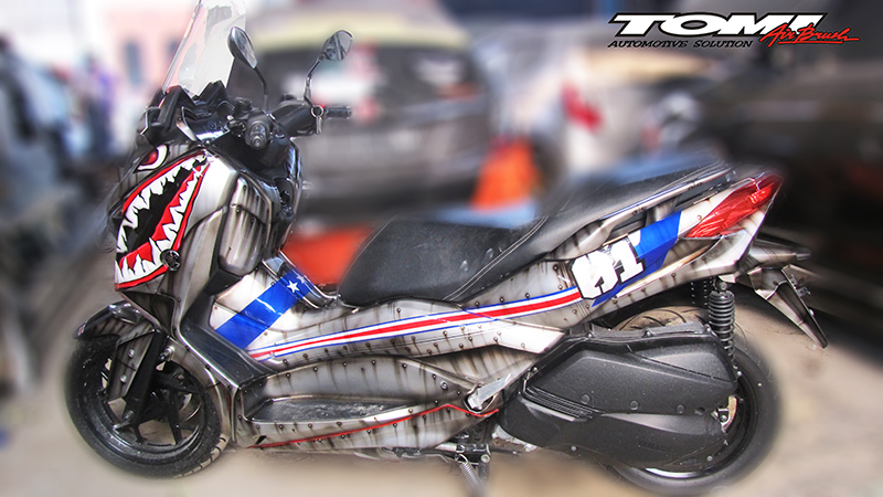 Yamaha XMax Modifikasi Tiger Shark