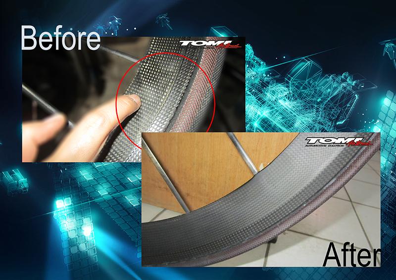 Tomi Airbrush Spesialis Reparasi Velg Sepeda Carbon
