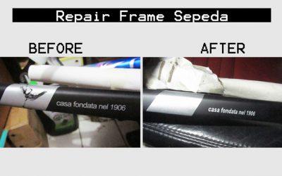 Reparasi Rangka Sepeda di Bengkel Tomi Airbrush