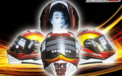 Modifikasi Helm Airbrush Realis
