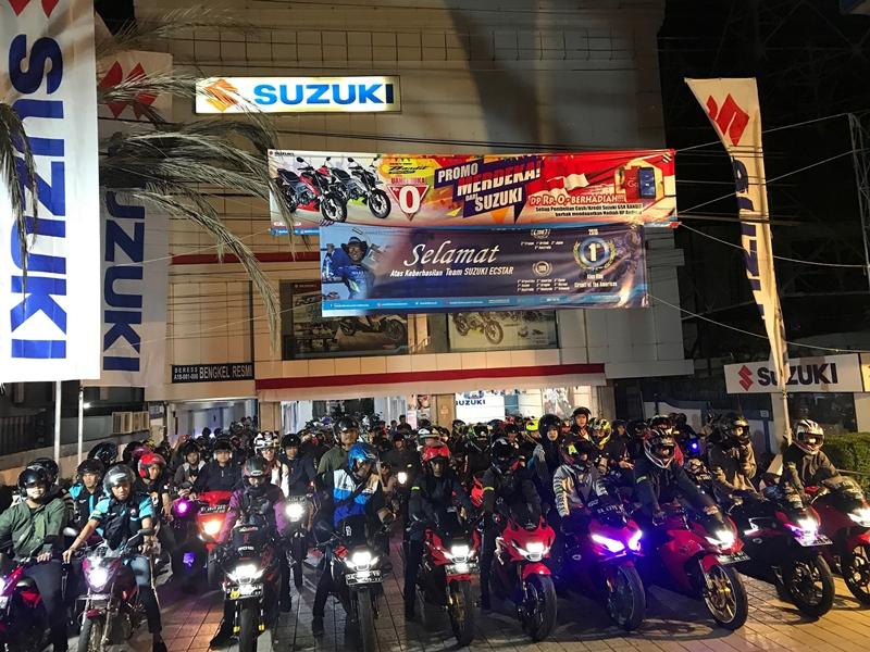 Ratusan Bikers Banjarmasin Tumpah Ruah Penuhi Kota