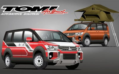 Konsep Modifikasi Virtual Mitsubishi Delica by Autovanoz