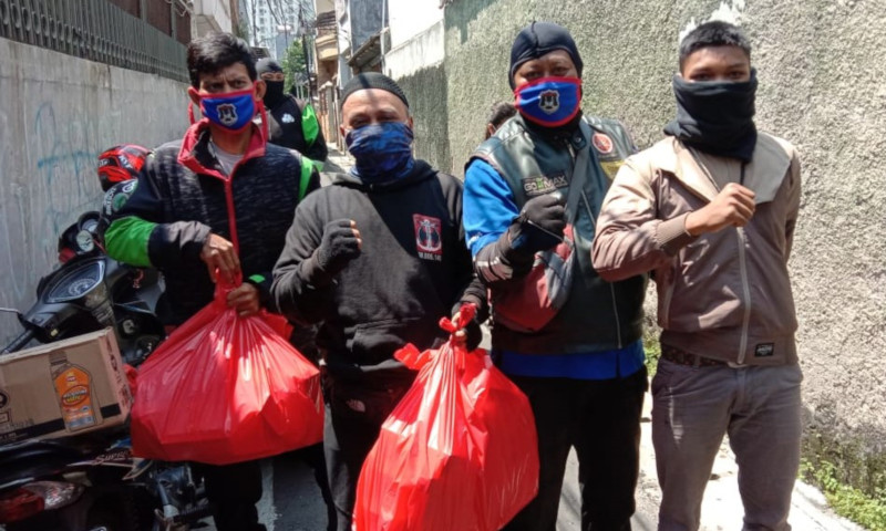 Aksi Peduli Sosial Komunitas GOMAX Riders di Masa Pandemi