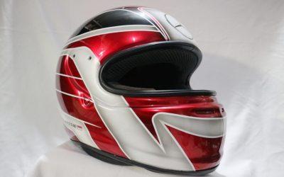 Modifikasi Helm Airbrush Merah Candy