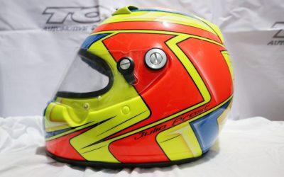 Modifikasi Helm Airbrush Bergrafis Racing