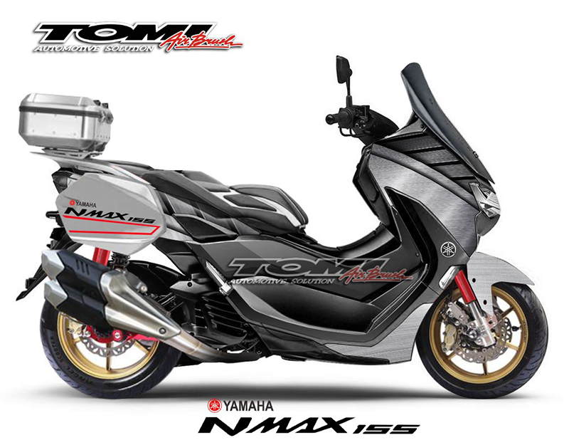 Gokil Abiss Modifikasi Yamaha All New NMax Ala Tomi Airbrush