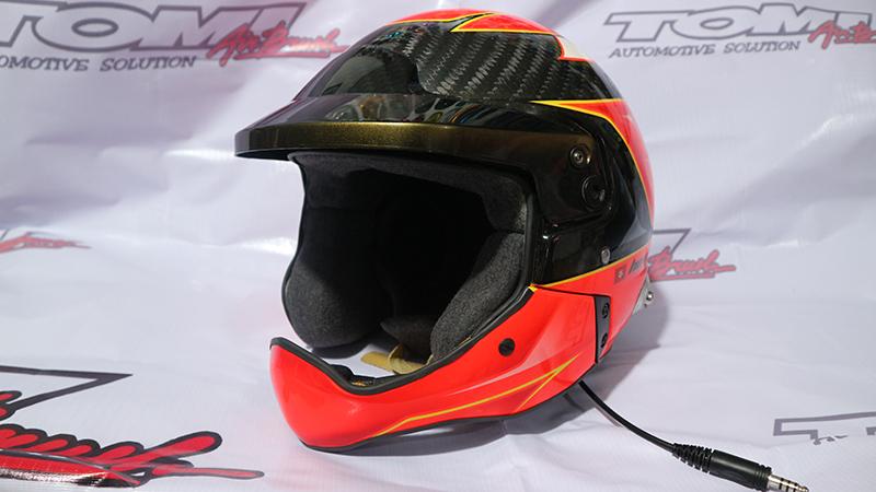 Helm Carbon Kevlar Disemprot Airbrush