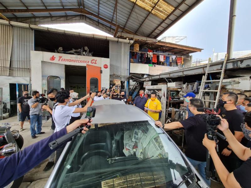 Bambang Soesatyo Kunjungi Bengkel Tomi Airbrush