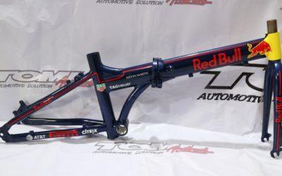 Modifikasi Airbrush Sepeda Red Bull