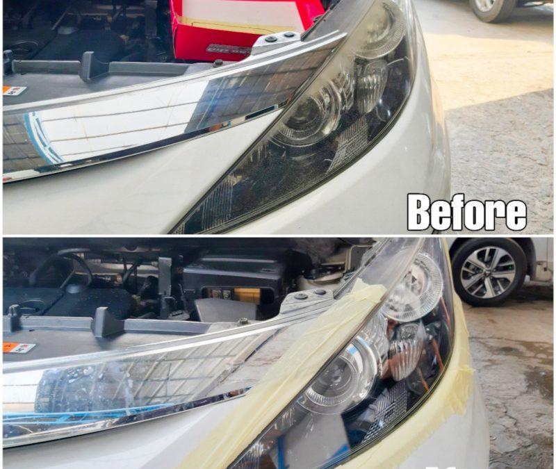 Jelang Musim Hujan Siap-siap Bersihkan Kaca Lampu Mobil Buram