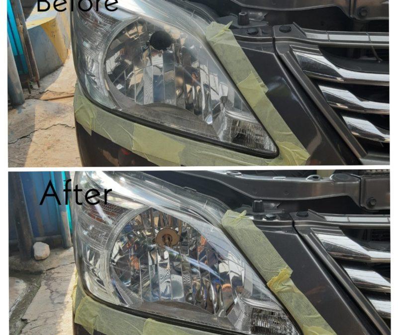 Kembalikan Terang Lampu Mobil di Musim Hujan