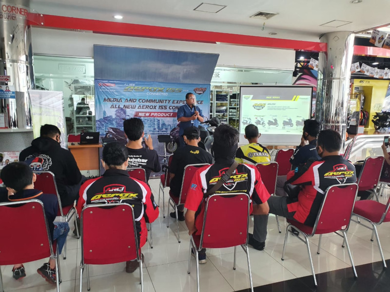 Yamaha All New Aerox 155 Connected Meluncur di Jateng dan Yogyakarta