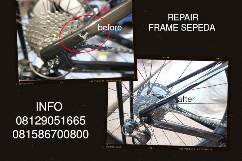 Repair Frame Sepeda Carbon Ada Garansi di Tomi Aibrush
