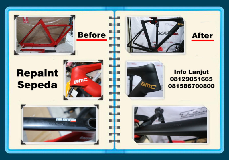Modifikasi Warna Sepeda di Tomi Airbrush Saat PPKM