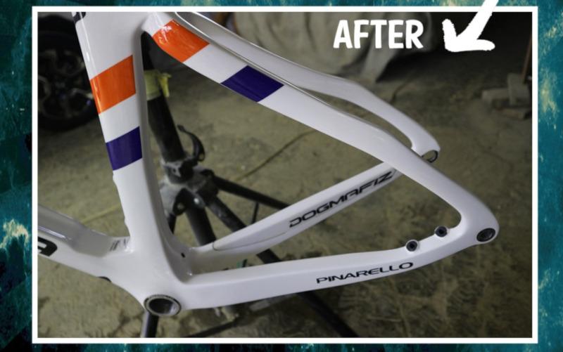 Repair Frame Carbon Sepeda Pinarello Dogma F12