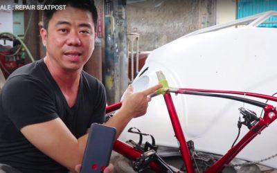 Repair Seatpost Cannondale di Tomi Airbrush