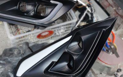 Custom Lampu Double Projector Toyota Yaris