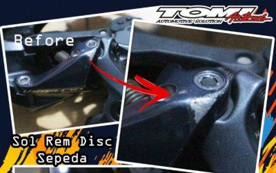 Tomi Airbrush Juga Bisa Repair Rem dan Rear Derailleur Sepeda